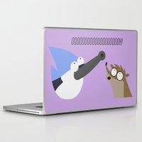regular show Laptop & iPad Skins featuring regular show by tukylampkin
