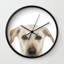 Rescue Dog, Lab mix, Maple Wall Clock