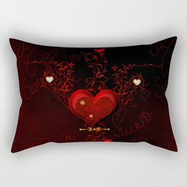 Beautiful hearts with floral elements, valentine's day Rectangular Pillow