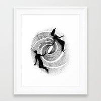 milky way Framed Art Prints featuring Milky Way by Aleksandra Kabakova