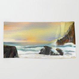 Living in Peace Beach Towel