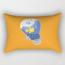 Everybody is a genius. Rectangular Pillow