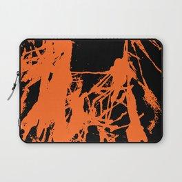 Orange Ink black Laptop Sleeve