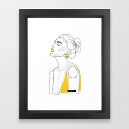 Yellow Lip Framed Art Print