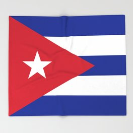 National flag of Cuba - Authentic HQ version Throw Blanket