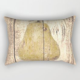 Rustic Brown Pear Kitchen Art Country Cafe Bistro Still Life A296 Rectangular Pillow