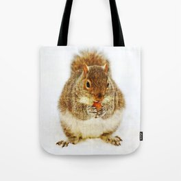 Squirrel with an Acorn Tote Bag