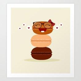 Pile de macarons Art Print