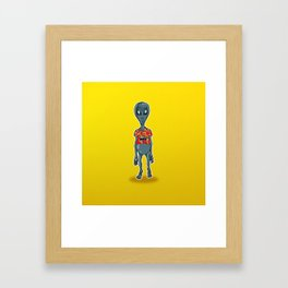 Just Visiting Framed Art Print