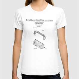 Water Polo Goal Vintage Patent Hand Drawing T-shirt