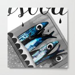 Sardinen Metal Print