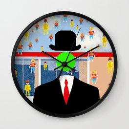 Magritte illustration Wall Clock