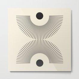Abstraction_NEW_SUNSHINE_SUNRISE_LINE_POP_ART_100A Metal Print
