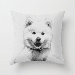 Minimalist Dog Throw Pillow