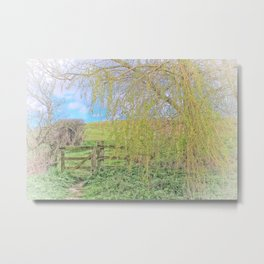 Gate From The Meadow 2 Metal Print
