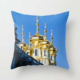 Catherine Palace Spires - Pushkin - Russia Throw Pillow