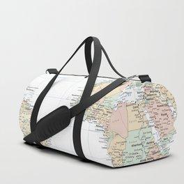 Clear World Map Duffle Bag