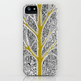 Let it snow! Tree in a beautiful winter snowy day iPhone Case