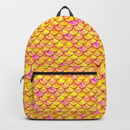 Yellow Pink Scales Backpack