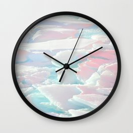 Broken Ice Pastel Texture Wall Clock