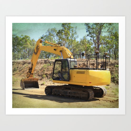 Heavy machinery working! Art Print