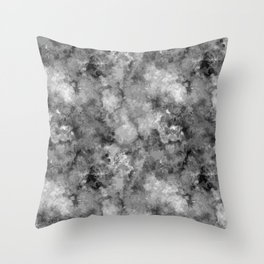 Abstract Dark Marble Throw Pillow