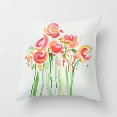 Drippy Bouquet Throw Pillow