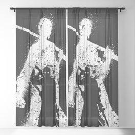 Zoro Silhouette Sheer Curtain