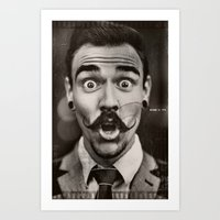 gentleman Art Prints featuring Gentleman by ''CVogiatzi.