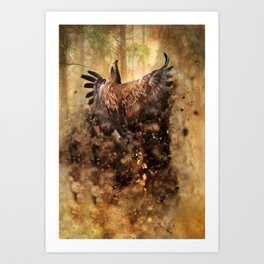 Flight From The Earth Art Print