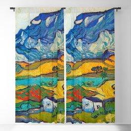 Les Alpilles, Mountain Landscape near South Reme Vincent van Gogh 1889 Blackout Curtain