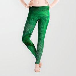 Green Emerald Agate Leggings