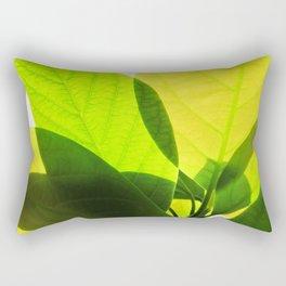 Avocado Leaves Rectangular Pillow