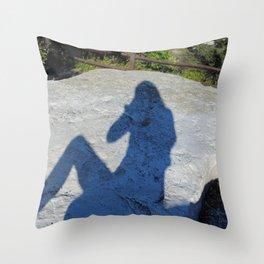 Summer silhouette Throw Pillow