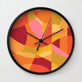 Summer Lovin - Orange Pink Yellow Abstract Wall Clock