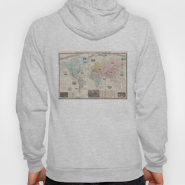 Vintage Map of The World (1859) Hoody