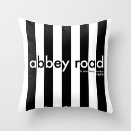 Abbey Road, St Johns Wood, London, NW8, Travel Poster Throw Pillow