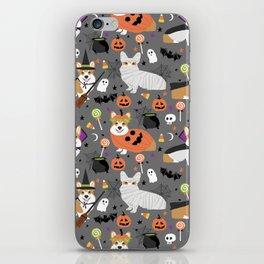 Corgi halloween costume ghost mummy vampire howl-o-ween dog gifts iPhone Skin