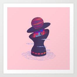 Planet Lady Art Print