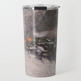 Winter, Midnight - Childe Hassam Travel Mug
