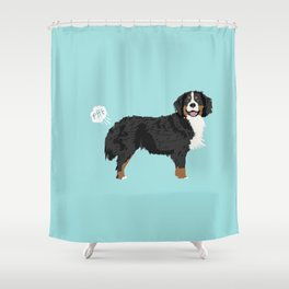 Bernese Mountain Dog dog breed funny dog fart Shower Curtain