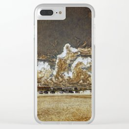 Sand and sky Clear iPhone Case