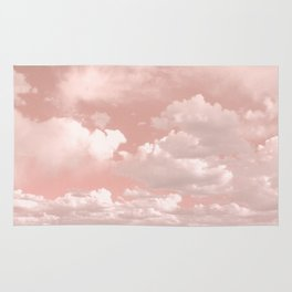 Clouds in a Peach Sky Rug