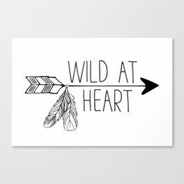 Wild at Heart - Boho Arrow Canvas Print