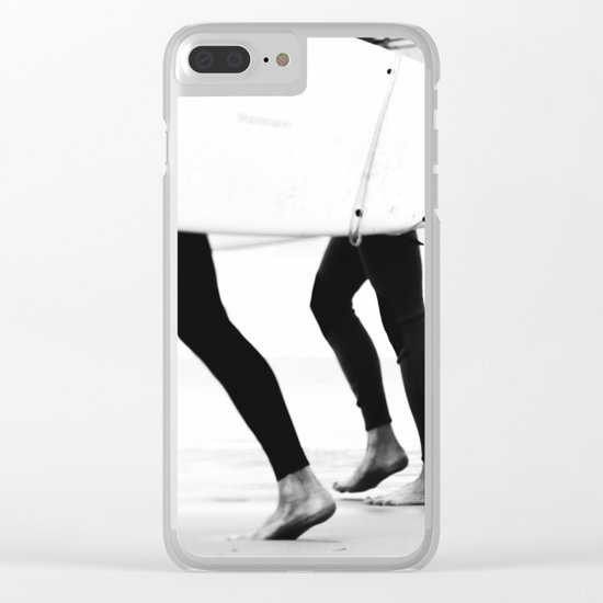 catch a wave Clear iPhone Case