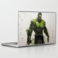 water colour Laptop & iPad Skins featuring Water Colour Hulk by Scofield Designs