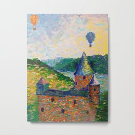 A Study Done in Pointilism Metal Print