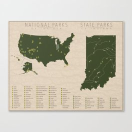 US National Parks - Indiana Canvas Print