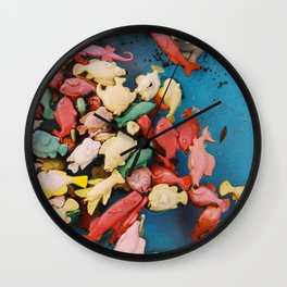Autumn of fish Wall Clock