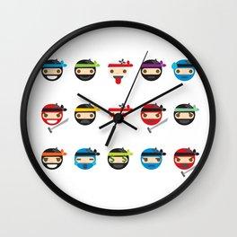 Ninja Toddlers Wall Clock